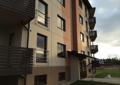 Daudzdzīvokļu māja Siguldas Māju kvartālā Dzērveņu ielā 9