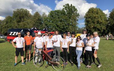 """AS """"Siguldas Būvmeistars"""" darbinieki aktīvi piedalās 28.Latvijas Riteņbraucēju Vienības braucienā"""