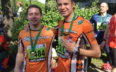 """AS """"Siguldas Būvmeistars"""" riteņbraucēju komandas pārstāvji arī šogad startē Nordea Rīgas maratonā"""